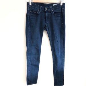Rag & Bone Skinny Capri Dark Denim Jean